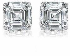 2.40 ct Asscher Cut Diamond 14k White Gold Studs Earring G VS1 GIA certificate