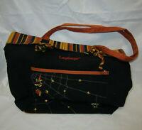 LONGABERGER Halloween Bag 16 x 12 x 4.5in - Black & Orange Cloth, Web Design