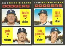 LOS ANGELES DODGERS 2020 Topps HERITAGE BASE TEAM SET-16 CARDS w/ RCs (Lux/May)!