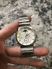 Vintage SEIKO Quartz Moon Phase, Date, Chronograph Watch 7A48-7009 Sports 100 n2