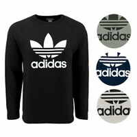 New With Tags Mens Adidas Trefoil Athletic Crew Top Sweatshirt