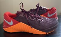Nike Metcon 5 Cross Training Mens Shoes Maroon Orange - Size 9.5