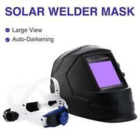 Auto-Darkening Welding Helmet Large View Area Pro Solar Welder Mask Li Battery