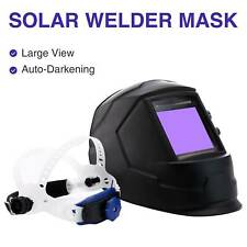 Auto-Darkening Welding Helmet Large View Area Pro Solar Welder Mask Li Battery