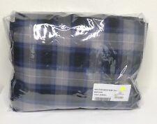 Restoration Hardware Reed Plaid Sheet Set Cotton Full Blue/Black New $169