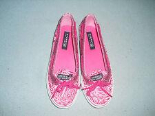 Sperry Top Sider misses shoes Sz 4.5 M pink leopard print w/ glitter Carline