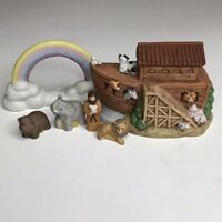 HOMCO Noah's Ark set of 6 figurines The Ark Noah Lion Elephant Hippo & Rainbow