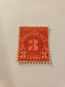 United States Postage Due 3 Cent Stamp 3 cent