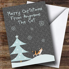 From or to The Tortoiseshell Cat Personalised Christmas Card