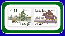 Latvia Lettland Lettonie 2020 Europe CEPT Old Post Roads Bicycle, Horse ,dog MNH