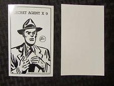 """1949 SECRET AGENT X9 by Mel Graff 3-3/8x5-3/8"""" King Features Exhibit Card NM"""