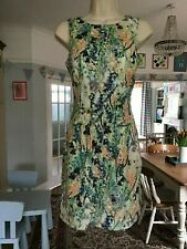 Worn Twice Size 10 COAST Botanical Floral Iris Cotton Mini Shift Occasion Dress~