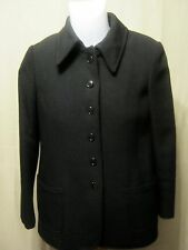 ANNE KLEIN Womens Tailored Lined Wool Coat,Measures Small-No Size Tag,Black