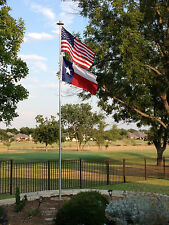 16' Telescoping Flagpole Deluxe Flag Pole 10 Gauge Aluminum Made In The USA