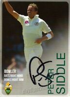 ✺Signed✺ 2014 2015 AUSTRALIAN Cricket Card PETER SIDDLE Big Bash League