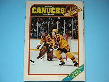 1980/81 VANCOUVER CANUCKS VS EDMONTON OILERS HOCKEY PROGRAM WAYNE GRETZKY POSTER
