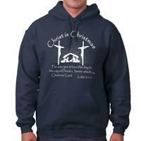 Jesus Christ Christmas Christian Shirt Holiday Religious Gift Hooded Sweatshirt