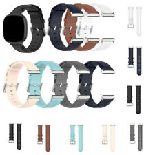 For Fitbit Versa 3 / Sense Soft Leather Adjustable Replace Band Strap Watch Band