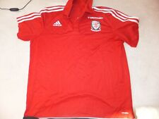 Wales Football Polo T Shirt Training Adidas Size Small S Adult Mint L23