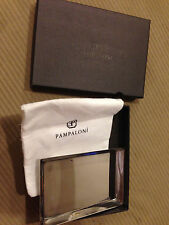 Pampaloni Italy Lexus Toned Silver Business Card Tray W/ Sleeve & Box