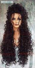 "26"" X-LONG LACE FRONT DEEP C-PART HIGH HEAT SAFE WIG COLOR #2  SEXY 1122 NEW"