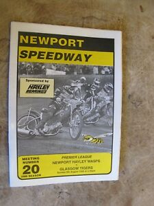 1998 Motorcycle Speedway Programme - Newport Wasps v Glasgow Tigers