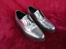 Diesel Women UK 39 US 8.5 Silver Point Toe Shoe Oxford