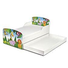 animaux de la jungle MDF tout-petit lit avec tiroir rangement