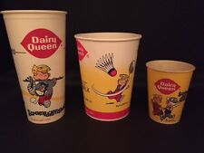 "1960/70's  Dairy Queen, ""Un-Used"" Cups and Containers (3)"