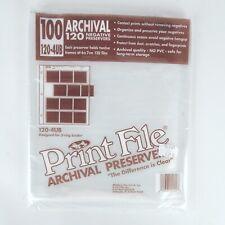PrintFile 120-4UB Archival Preservers 120 6x7 Film Negative Sheets 87 Pages USA