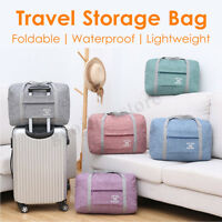 Foldable Large Travel Storage Bag Luggage Carry-On Clothes Organizer Oxford Bags