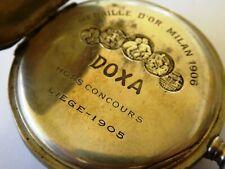 Antique Early 1900s DOXA  German .800  Pocket Watch