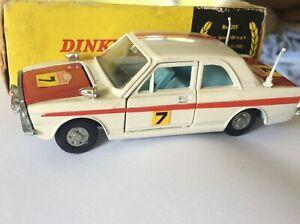 Dinky Toys::  Dinky Toys 205 Lotus Cortina Rally Car with Original Box