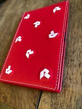 The Riviera Country Club Members Only Red w White Stitch Leather Yardage Book