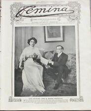 Femina n°171 -  1908 - Les Costumes de voyage - Paysannes Roumaines - Bal