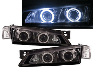 Silvia S14 200SX 1997-1998 2D CCFL Projector Headlight Black V2 for NISSAN RHD