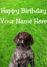 German Shorthaired Pointer Dog hs159 Garden Personalised Birthday Greeting Card