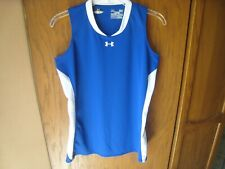 Under Armour Men's Blue Polyester Loose Fit Sleeveless T-Shirt Small