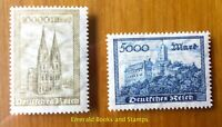 EBS Germany 1923 Wartburg Castle and Cologne Cathedral Michel 261-262 MNH**