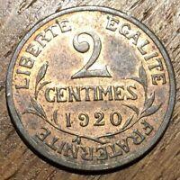 PIECE DE 2 CENTIMES DUPUIS 1920 (532) 598274 EXEMPLAIRES SEULEMENT.