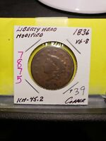1836 Coronet Head Large Cent 7875