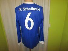 FC Schalke 04 Adidas Langarm Junioren Matchworn Trikot 2014/15 + Nr.6 Gr.M TOP