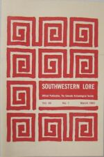 SOUTHWESTERN LORE, VOL. 49, No. 1 MARCH 1983