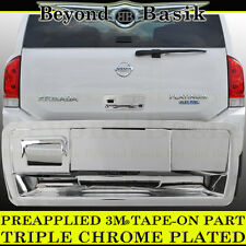 Fits 2004-2015 NISSAN ARMADA Chrome Tailgate Handle Cover Trim with Camera Hole
