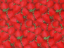 FAT QUARTER  STRAWBERRIES  STRAWBERRY  PATTY REED FABRIC  FRUIT  QUILTING COTTON