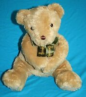 "Harrods Teddy Bear 12"" Soft Toy Beige Plush Bow Magnets in Hands Stuffed Animal"