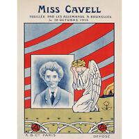 PROPAGANDA WAR WWI FRANCE EDITH CAVELL EXECUTED SPY NEW FINE ART PRINT POSTER PI