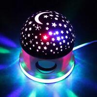 Bluetooth Speaker Night Light, Kids Star Projector Bedside Table Multicolor Lamp