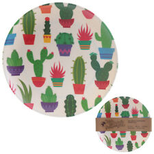 Eco-Friendly Bamboo Plate Cactus Design Reusable Picnic Party Sustainable BBQ