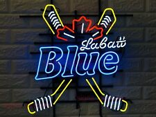 "New Labatt Blue Beer Hockey Sticks  Light Lamp Neon Sign 24""x20"""
